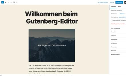 """WordPress Gutenberg und die neue Layout-Welt der """"Blöcke""""!"""