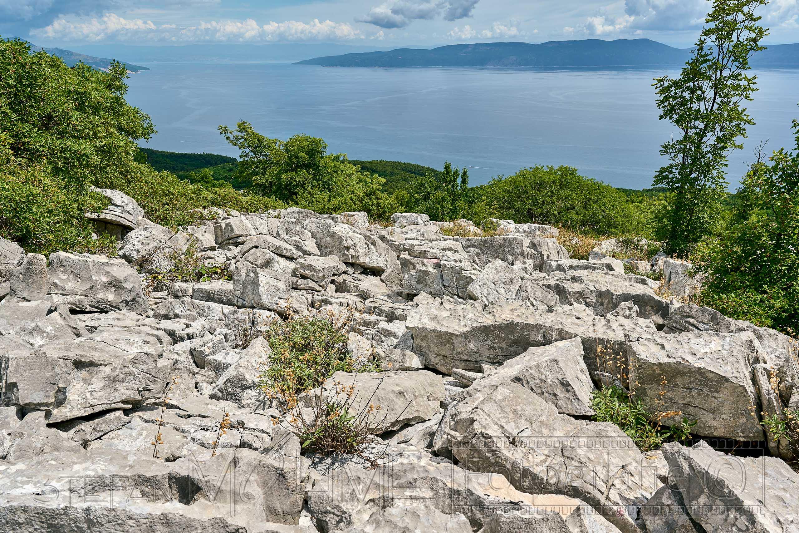 Kroatien, Istrien ,Naturlandschaft ,Meerblick