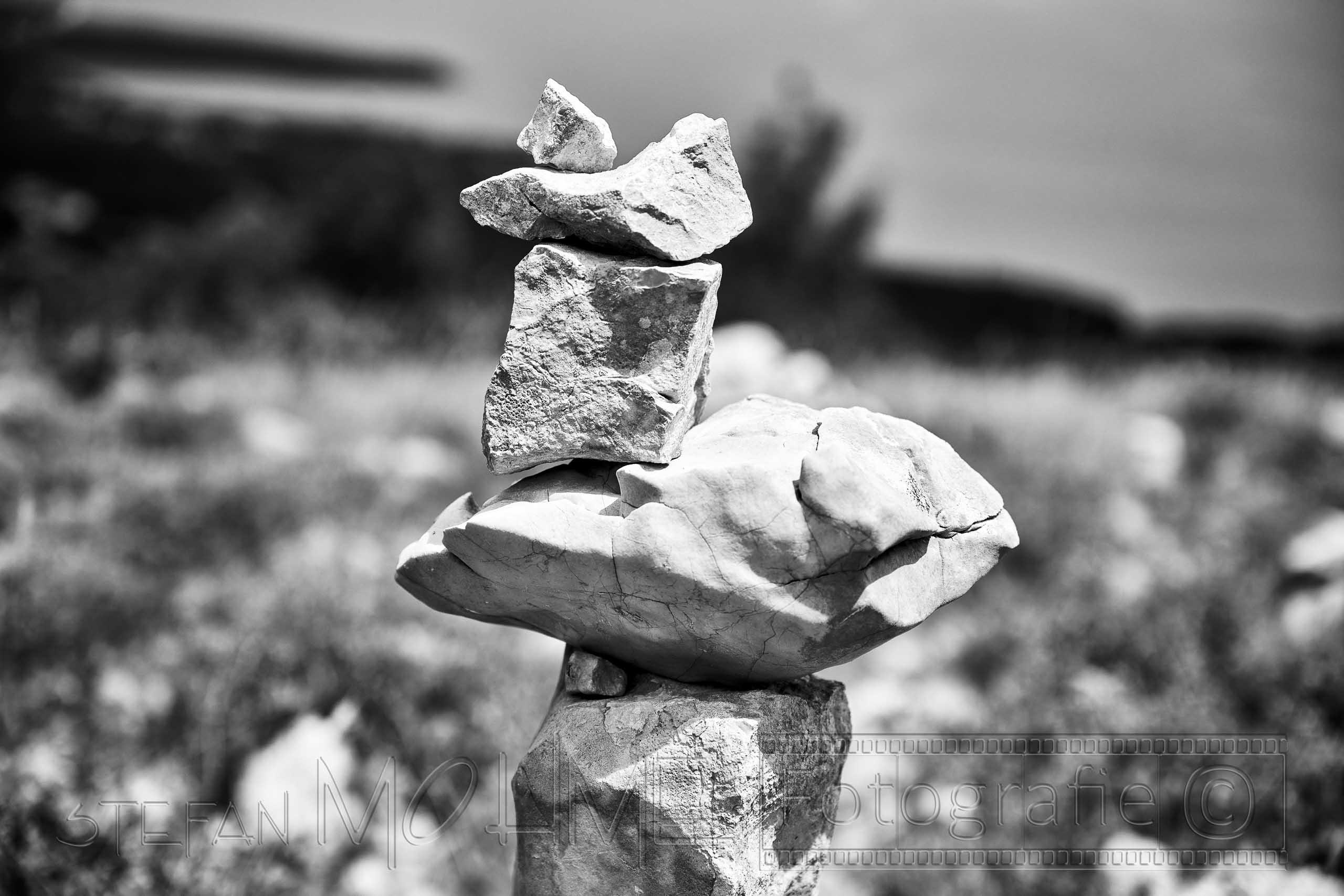 Schwarzweiss ,Steine, Nahaufnahme