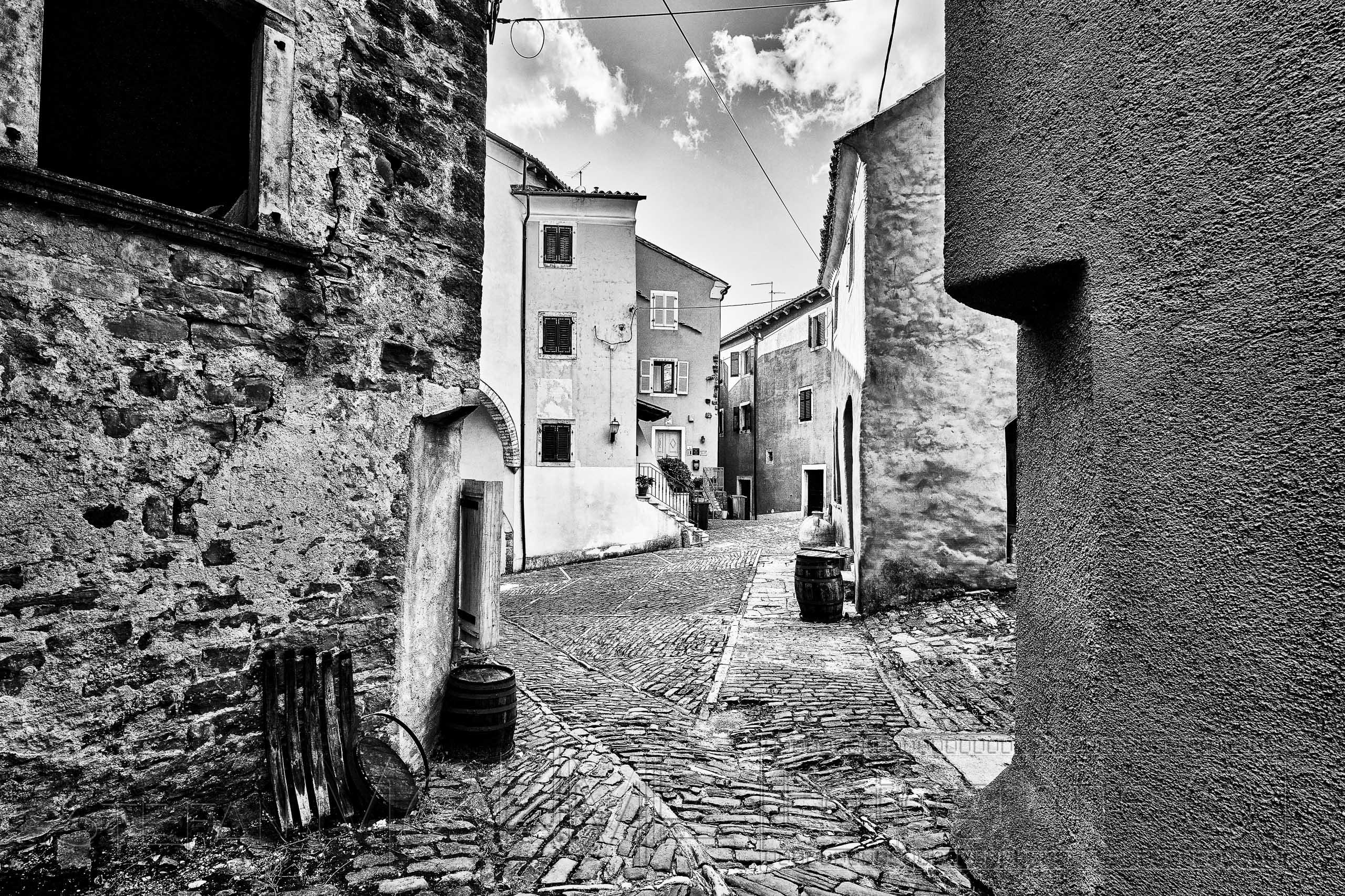 Kroatien, Altstadt, schwarzweiss