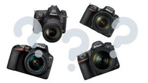 Verschiedenen DSLR von Nikon